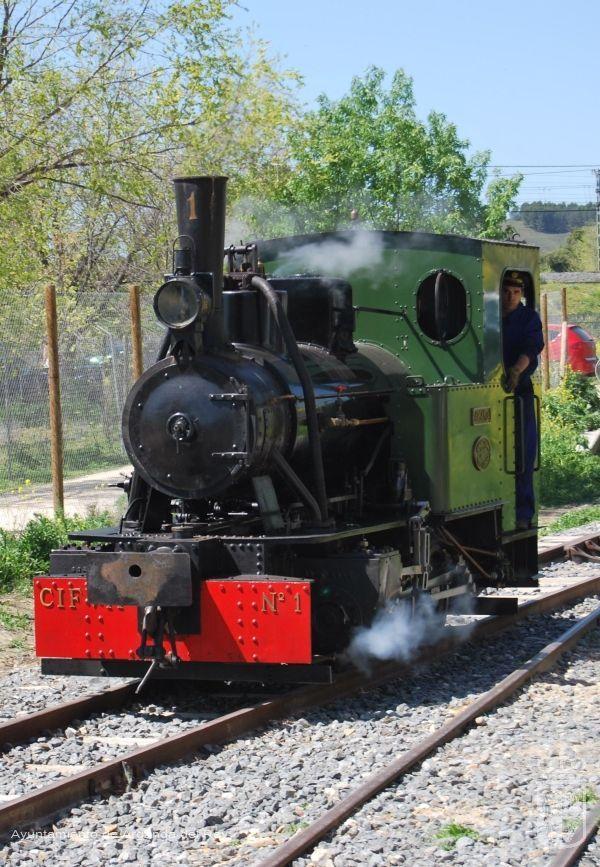 Locomotora de vapor Arganda. Museo del Tren.