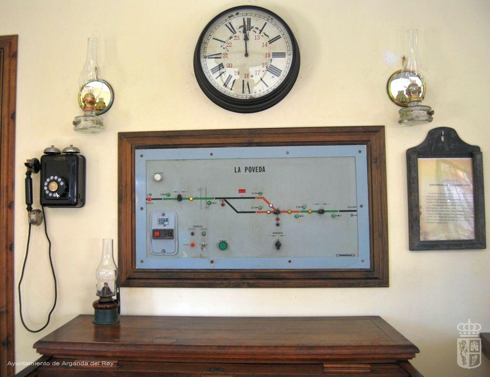 Cuadro de mando de enclavamiento de estación. Museo del Tren.