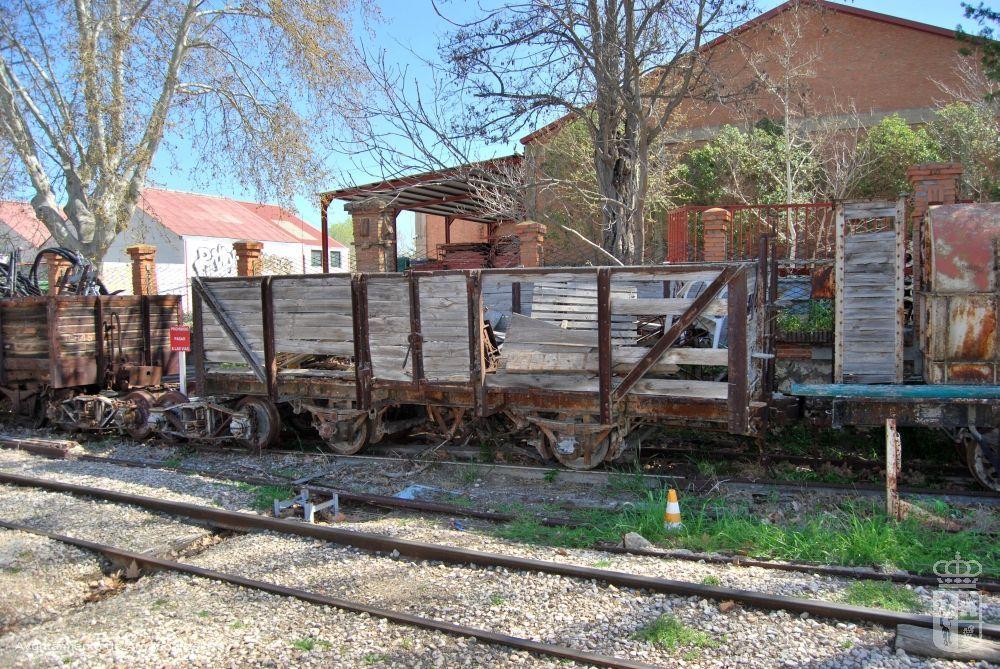 Vagón de mercancías del Tren del Tajuña. Museo del Tren.