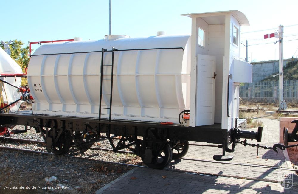 Vagón cisterna serie F. Museo del Tren.