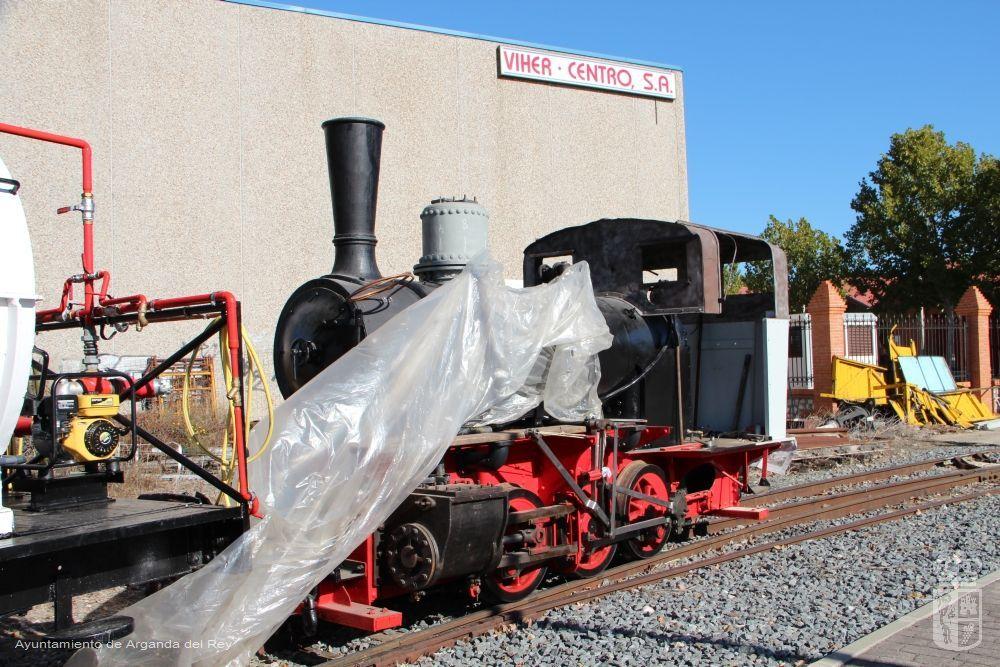 Locomotora de vapor HVL 3. Museo del Tren.