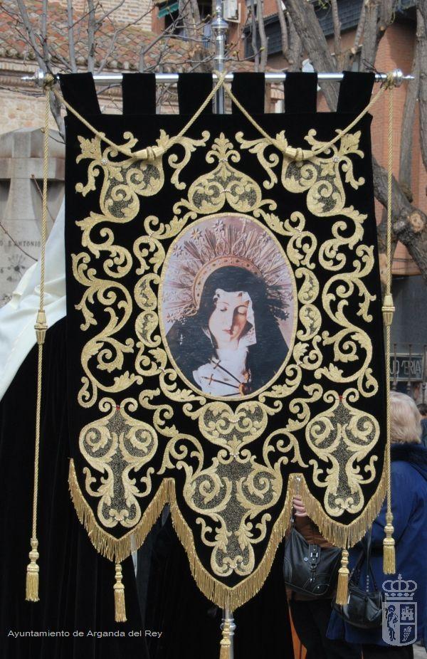 Estandarte negro de la Virgen. Ermita de la Soledad.