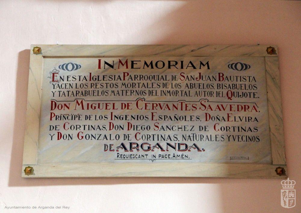Placa conmemorativa a la familia materna de Miguel de Cervantes.